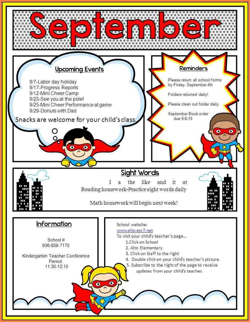 Free School Newsletter Templates Template Library