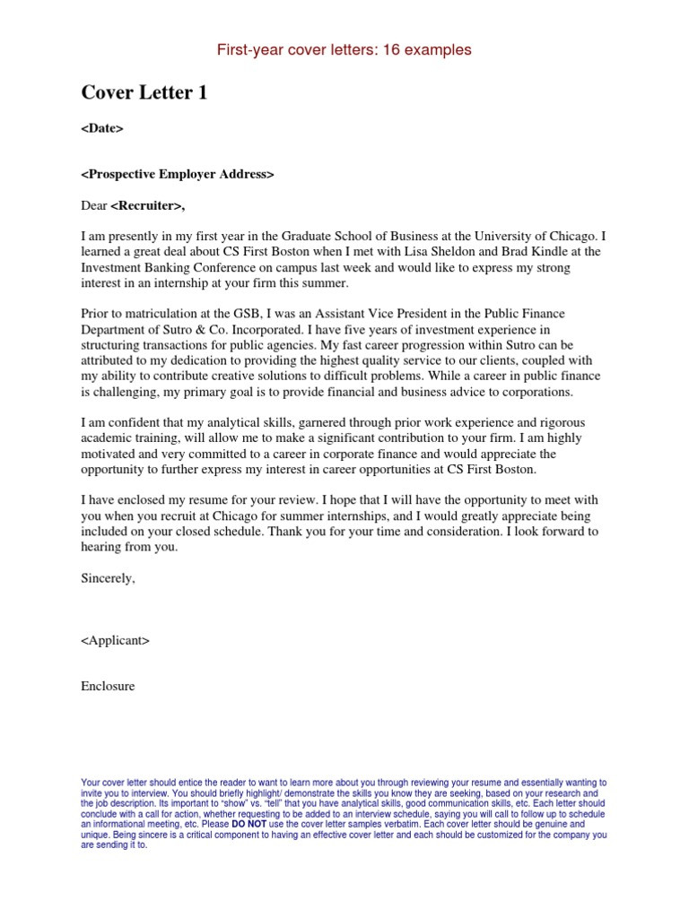 Investment Banking Cover Letter Harvard Template Library